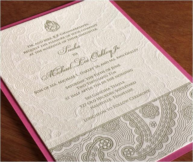 letterpress wedding invitation printing options