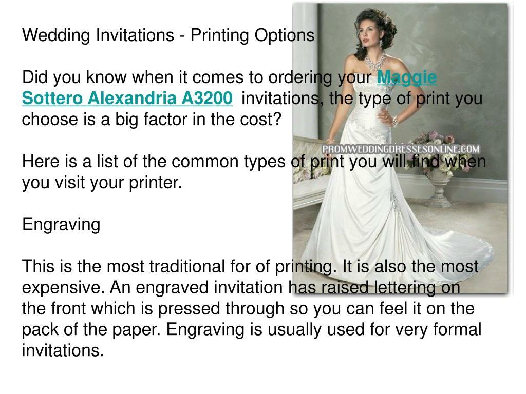 wedding invitations printing options