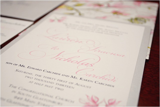 printing options for your wedding invitations