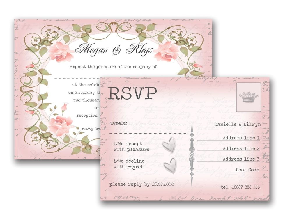sample wedding invitation rsvp wording