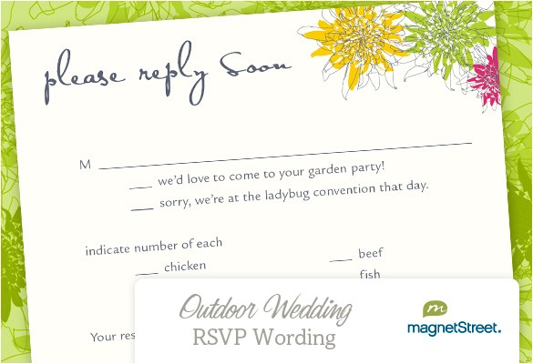 wedding invitation wording rsvp