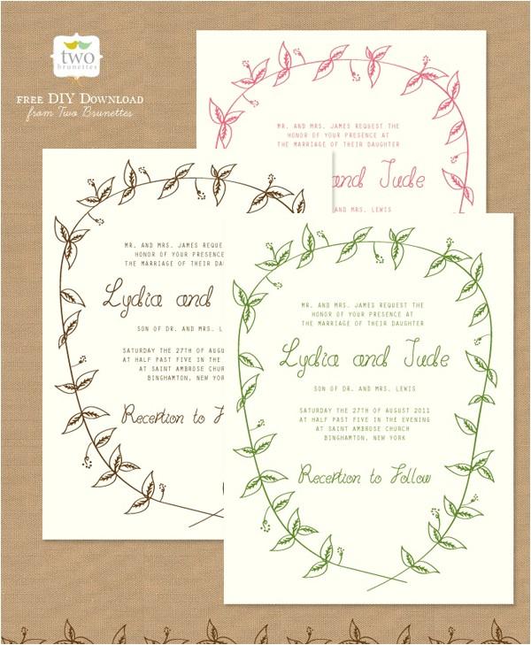 Wedding Invitation Templates Free Download 10 Free Printable Wedding Invitations Diy Wedding