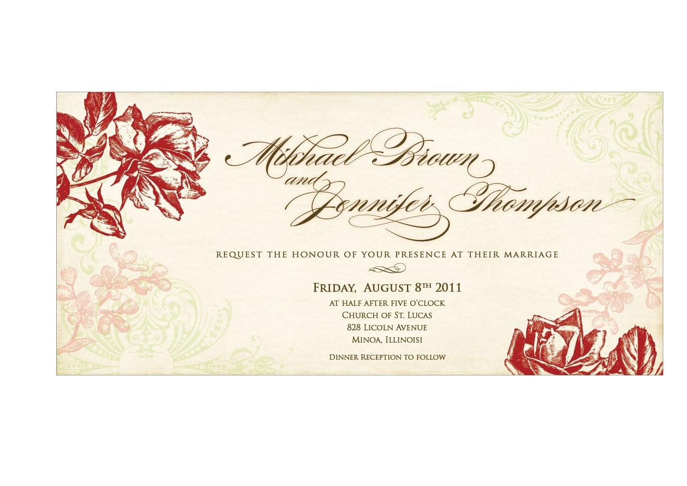 wedding invitation free downloads