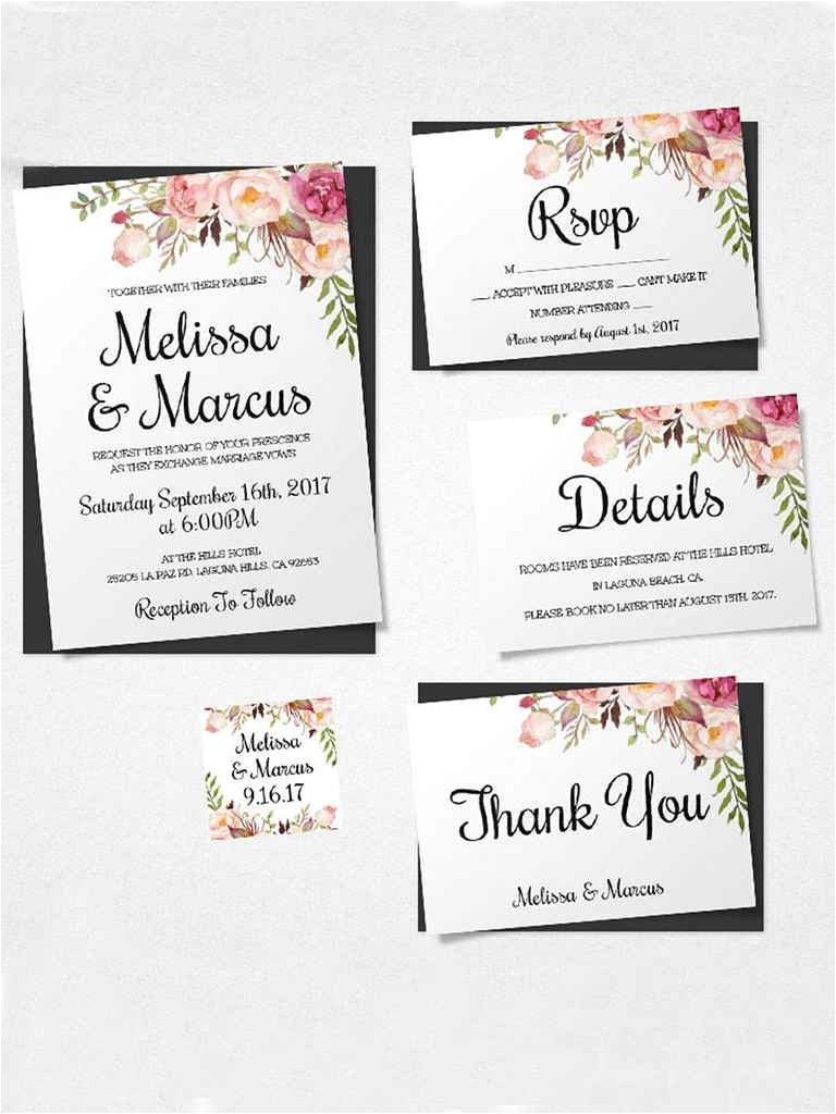 printable wedding invitation templates