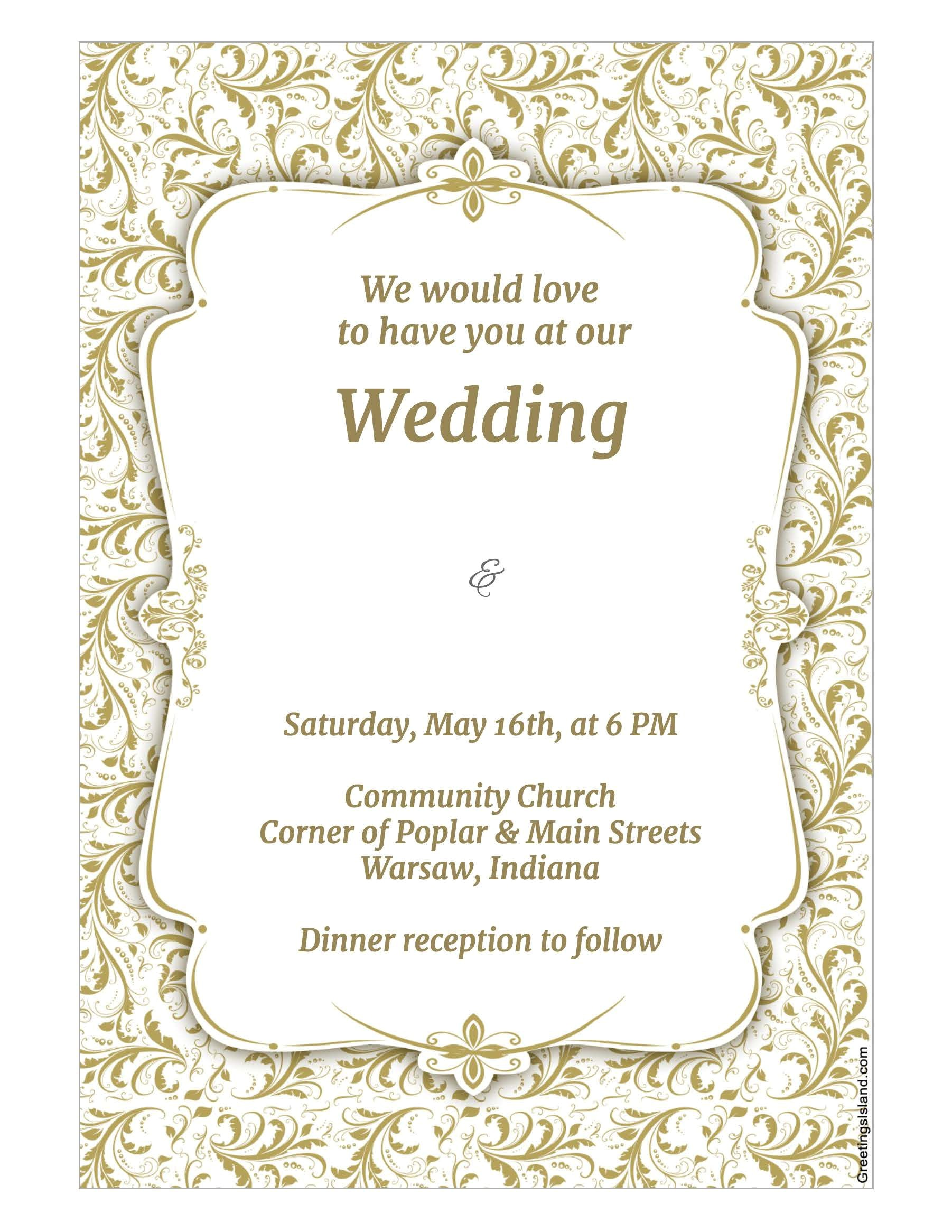 wedding invitation template adobe photoshop