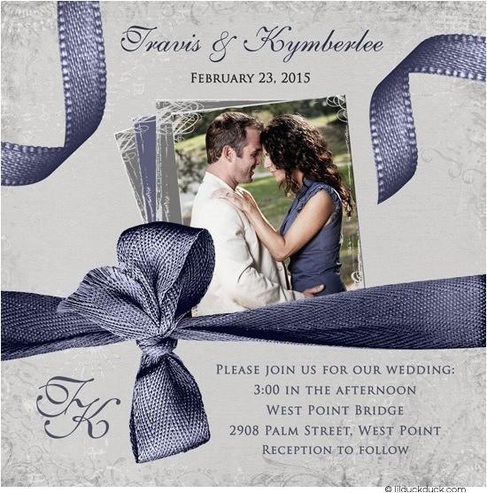 dramatic photo wedding invitation