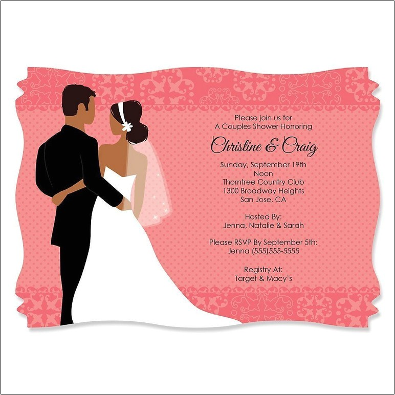 e wedding invitation with photos of couples