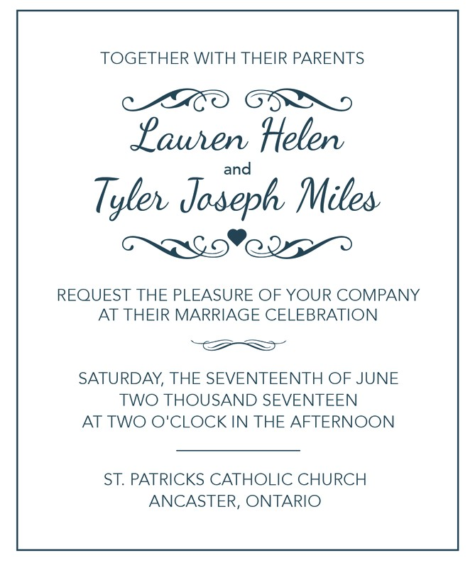 wedding invitation tips wording samples