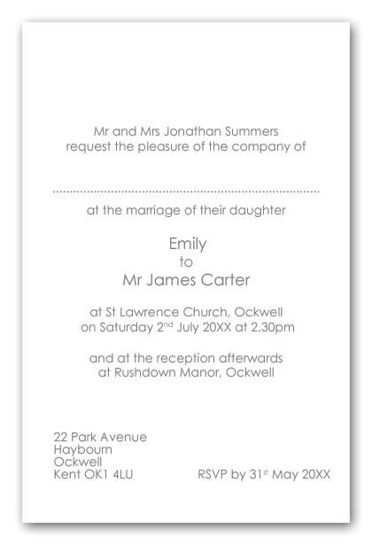 a invitation wording shtml