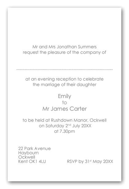 i invitation wording shtml