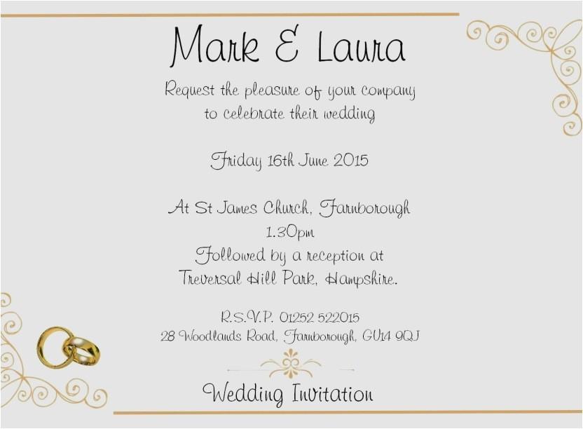 wedding reception invite wording