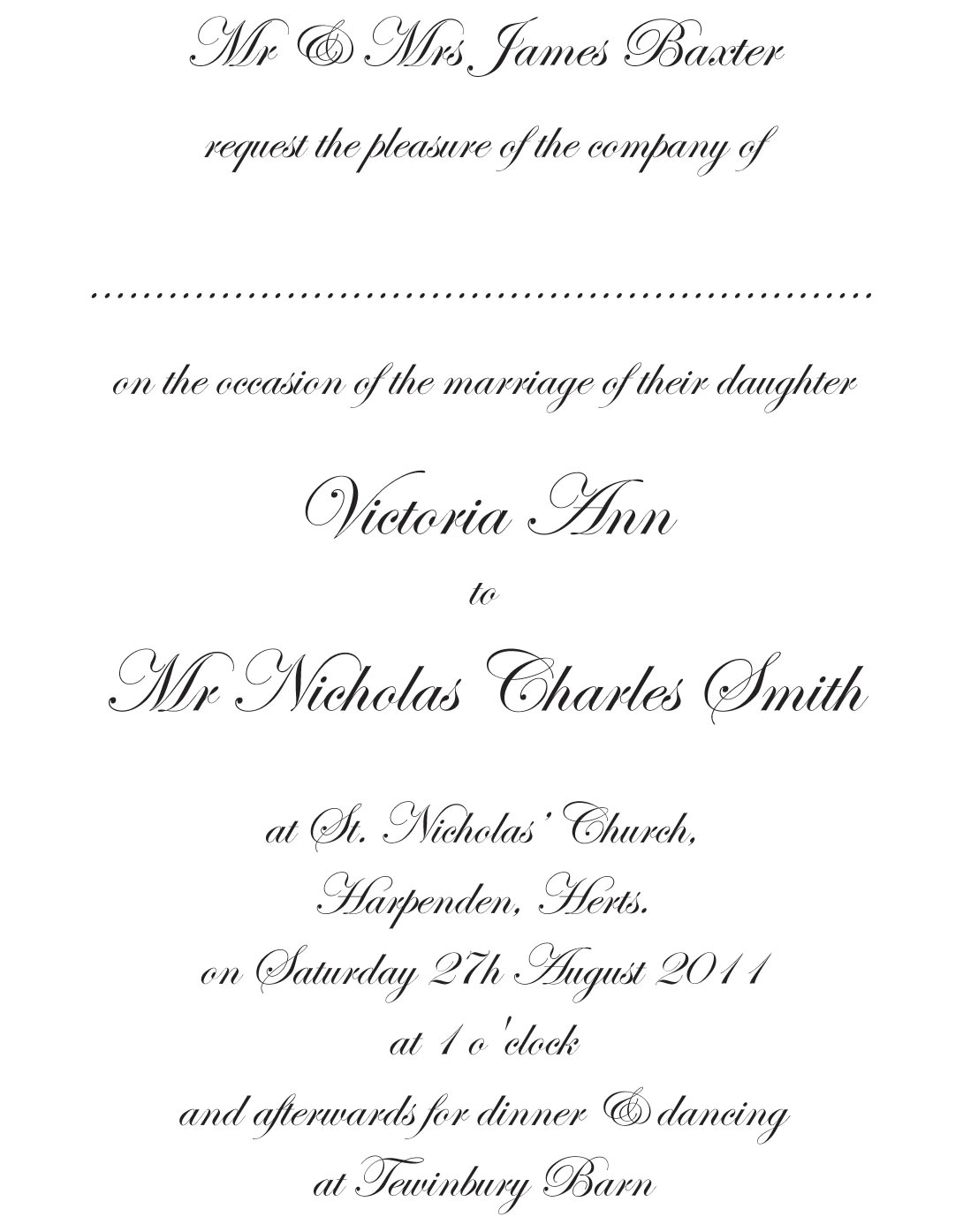 formal invitation wording template