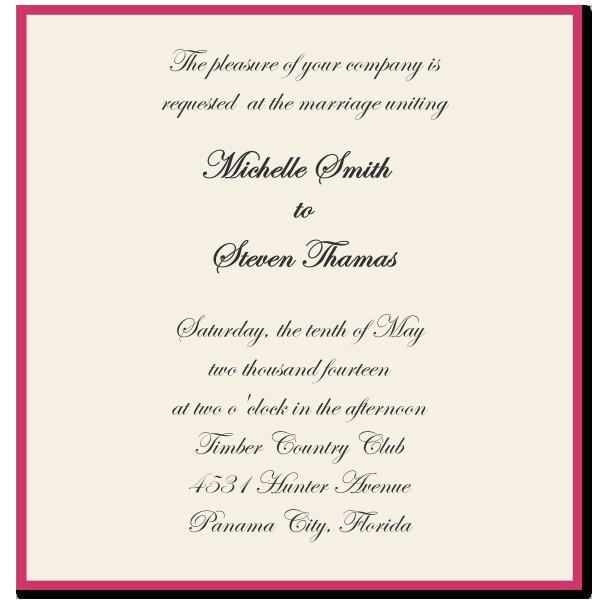 wedding invitation wording ideas template