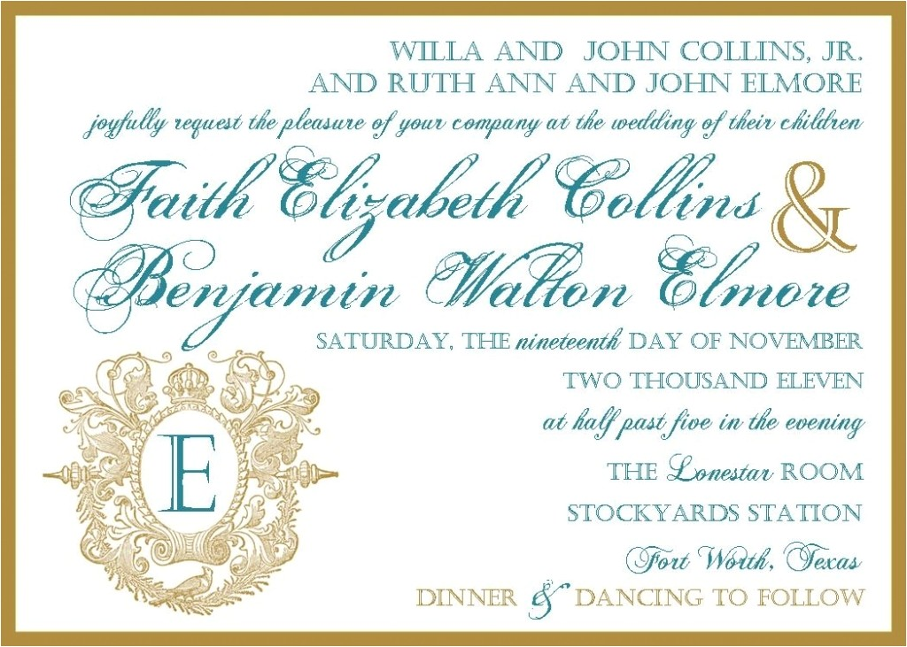 Wedding Invitation Wording together with their Parents Wedding Invitation Wording Samples together with their