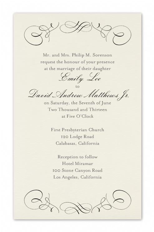 formal wedding invitation wording 1230