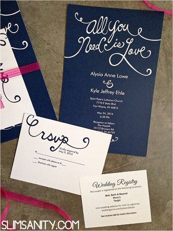 cheap wedding invitations and rsvp cards