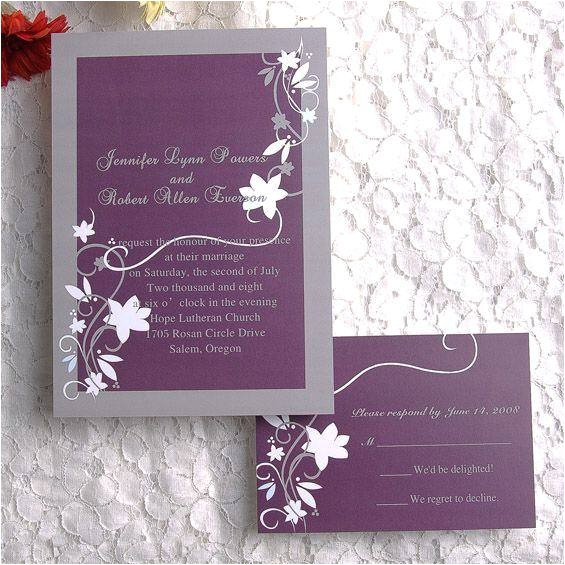 cheap wedding invitations with rsvp cards