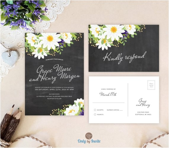 cheap wedding invitations with rsvp response card