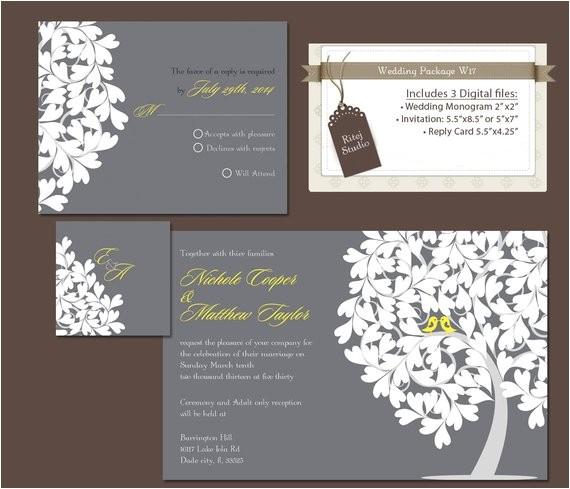 digital wedding invitation package diy