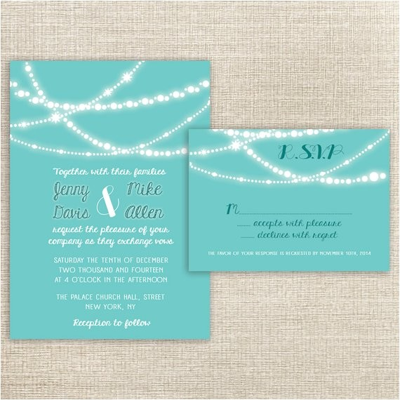 Wedding Invitations and Rsvp Packages Items Similar to Wedding Invitations Rsvp Card Package