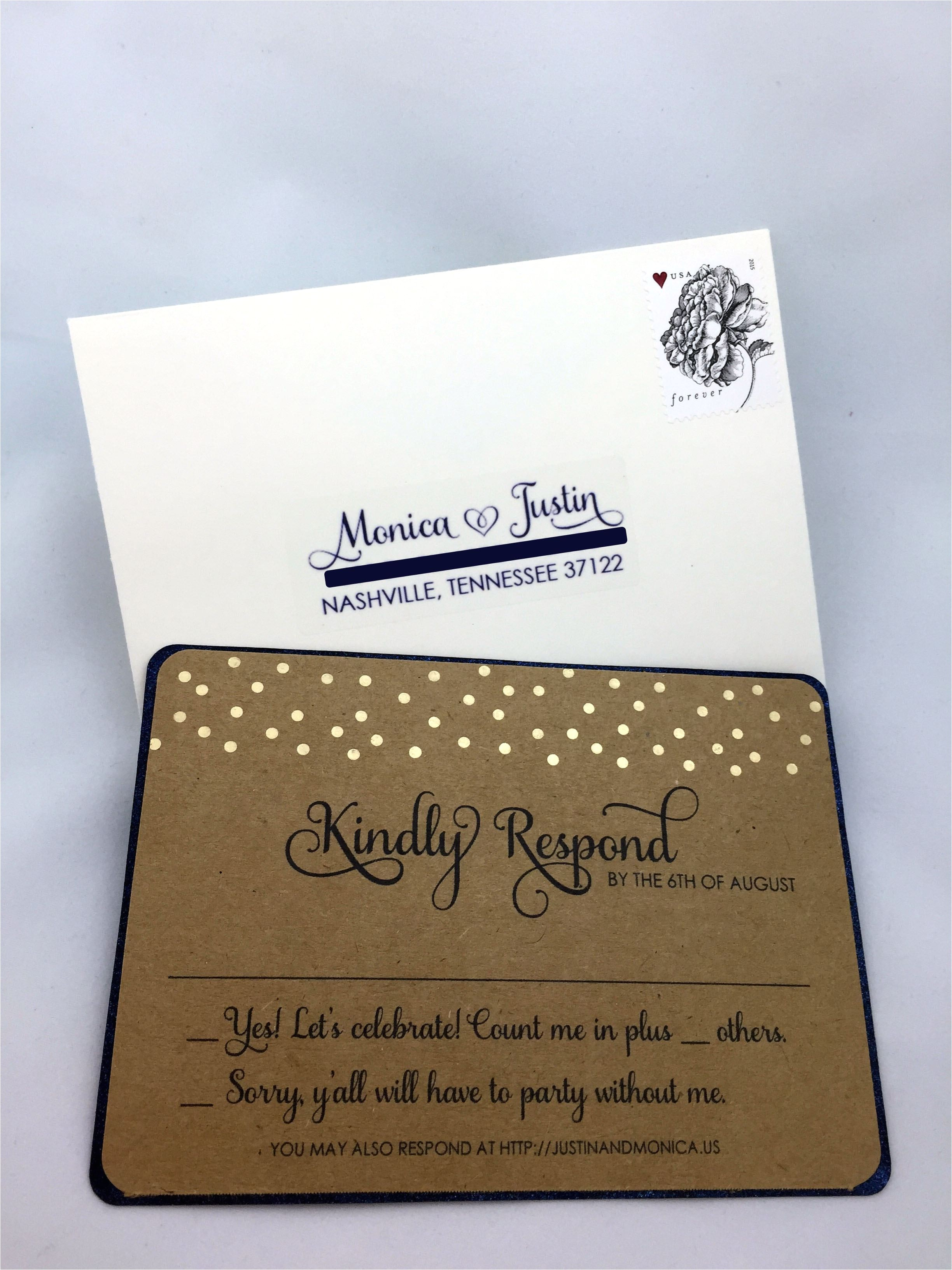 wedding invitations with rsvp cards package