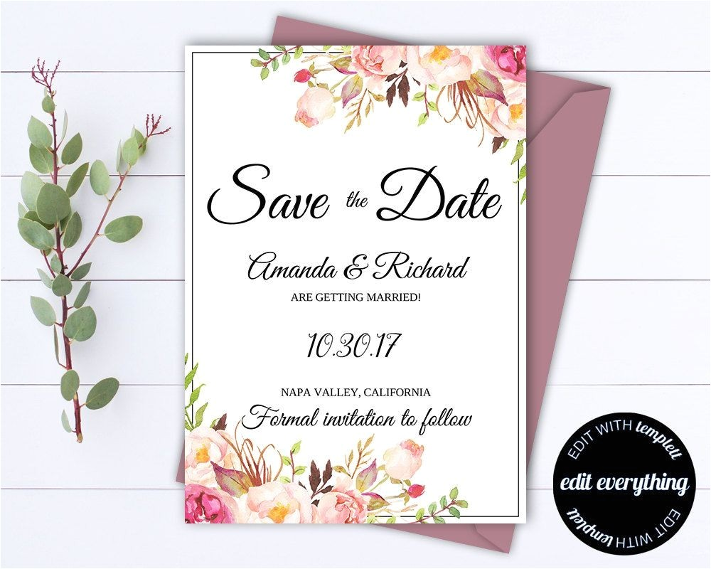 cheap wedding invitations and save the dates packages awesome floral save the date wedding template floral save the date invite