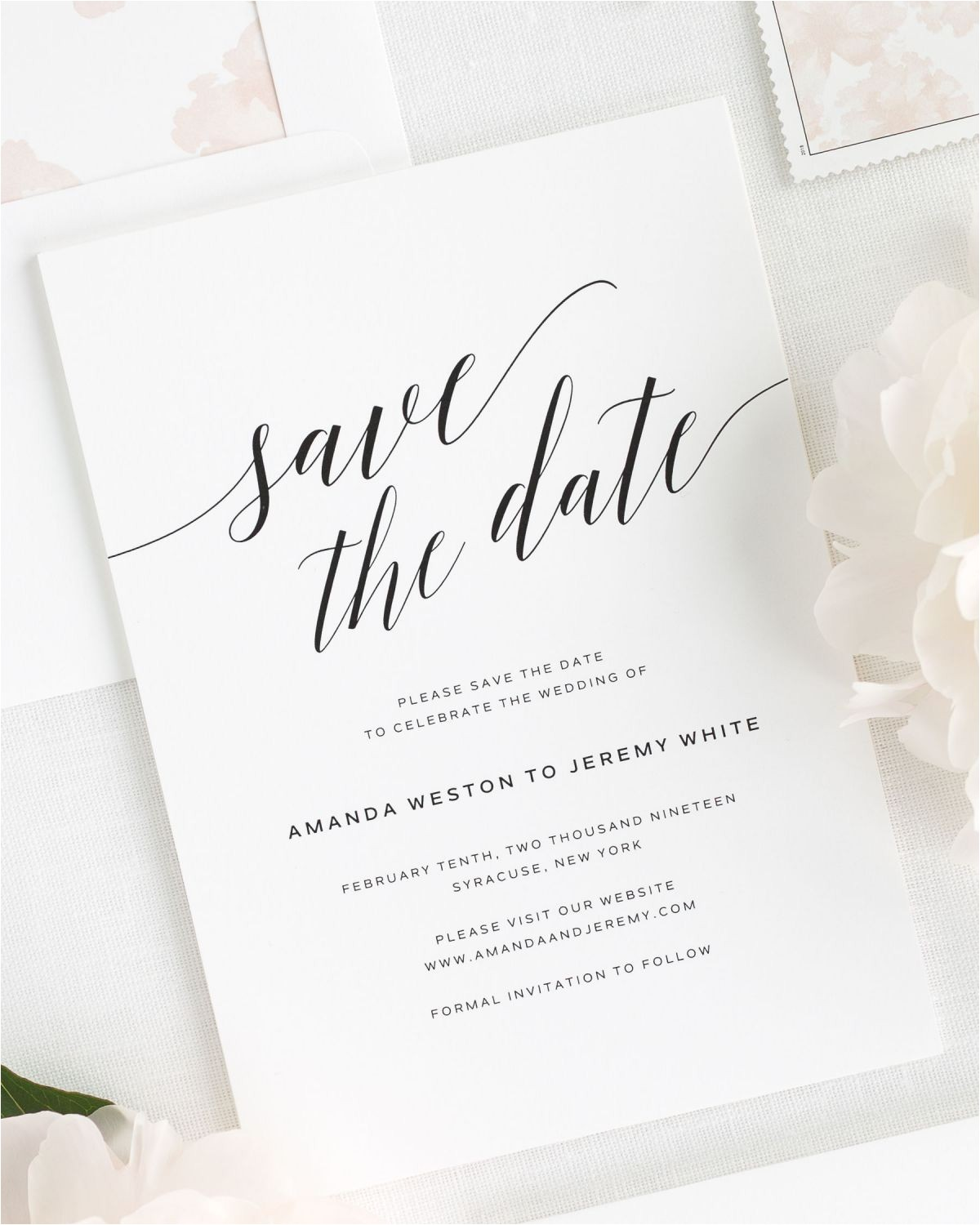 daring romance save the date cards