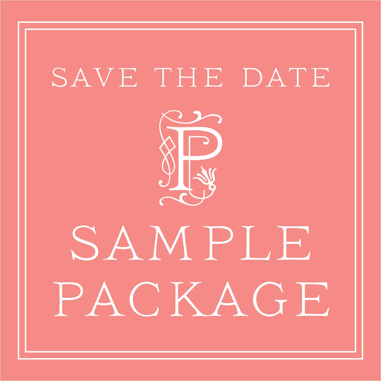 wedding save the date sample package classic save the date cards