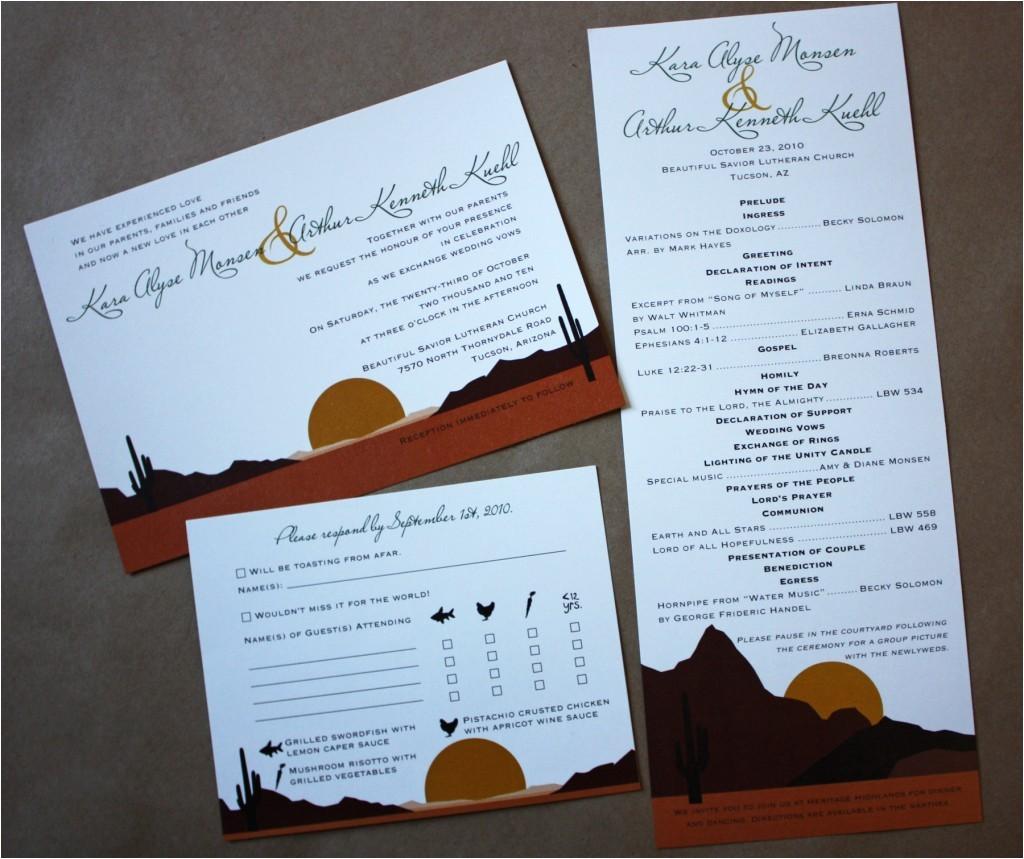 arizona desert themed wedding