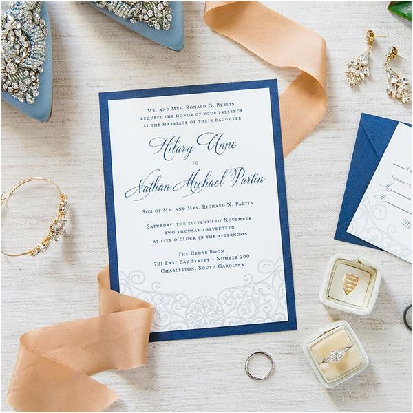 iron gate scrollwork invitation