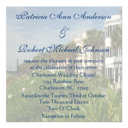 personalized rainbow row charleston sc wedding invitation 161882660949201192