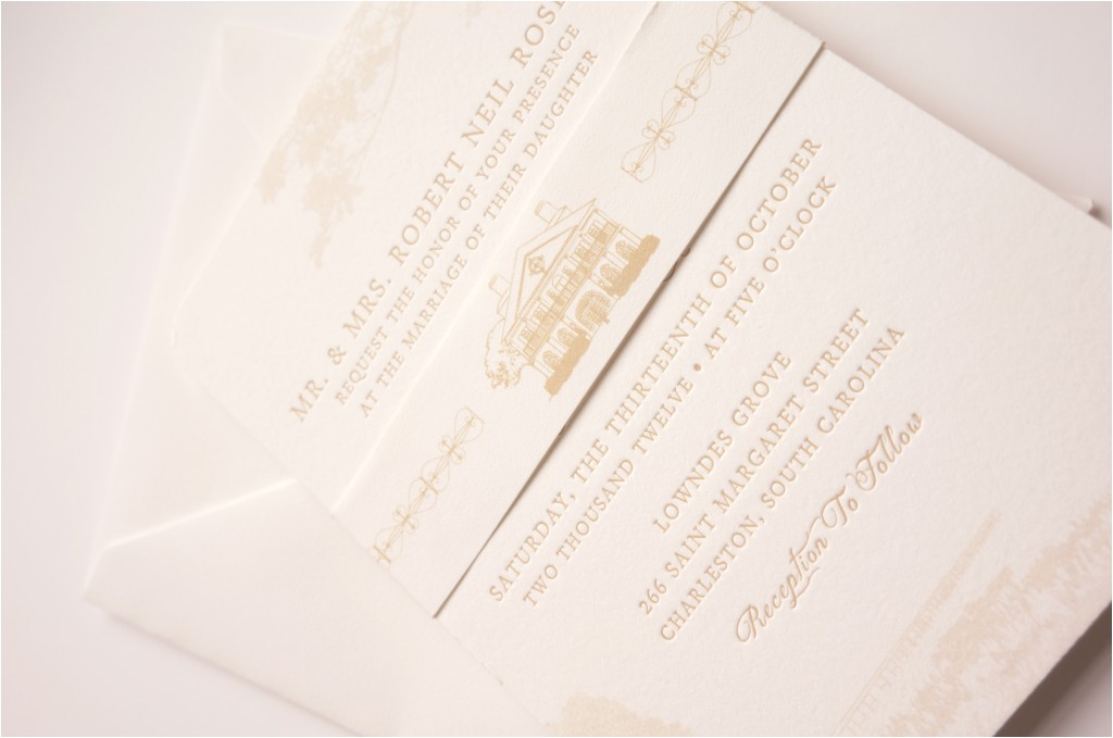 southern plantation wedding invitation