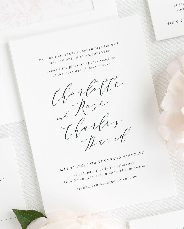 charlotte wedding invitations