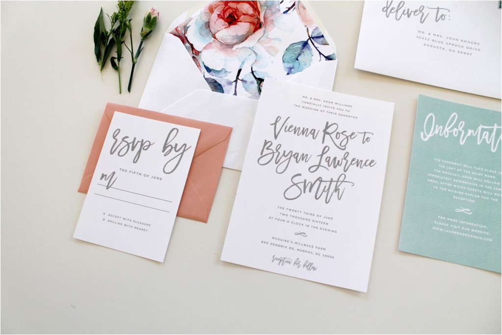custom wedding invitations charlotte nc calligraphy wedding invitations