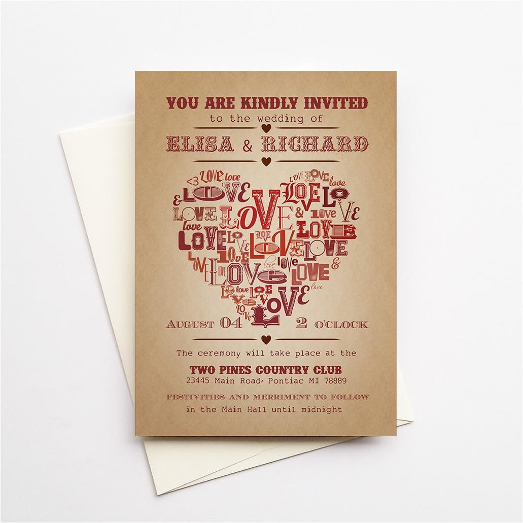 wedding invitations elpaso deposit