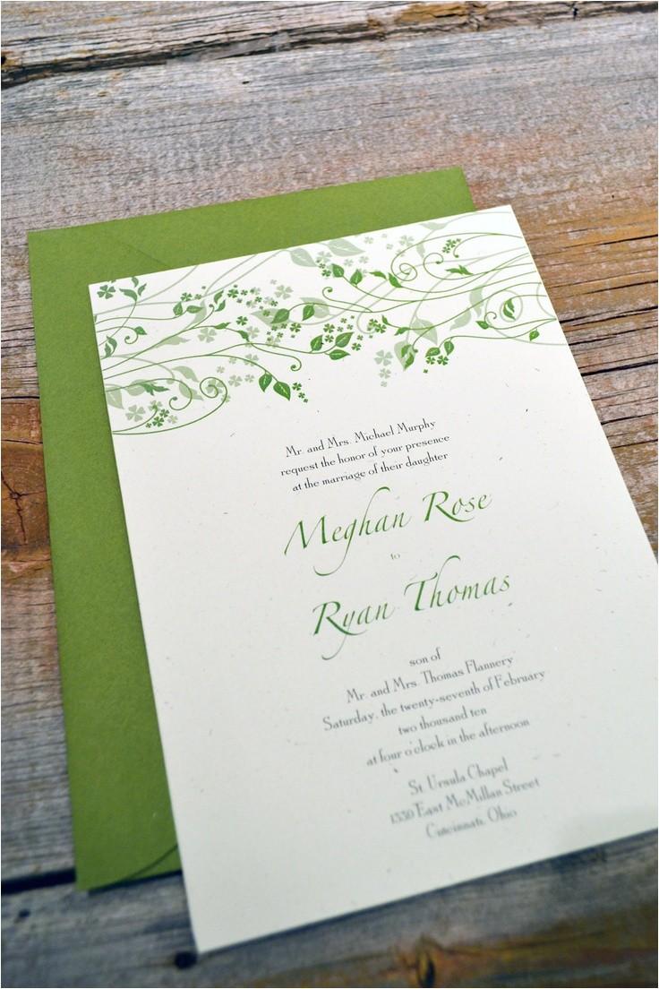 irish wedding invitations images on iris
