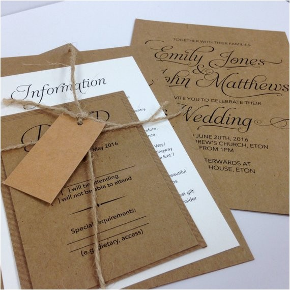 elegant textured recycled kraft wedding