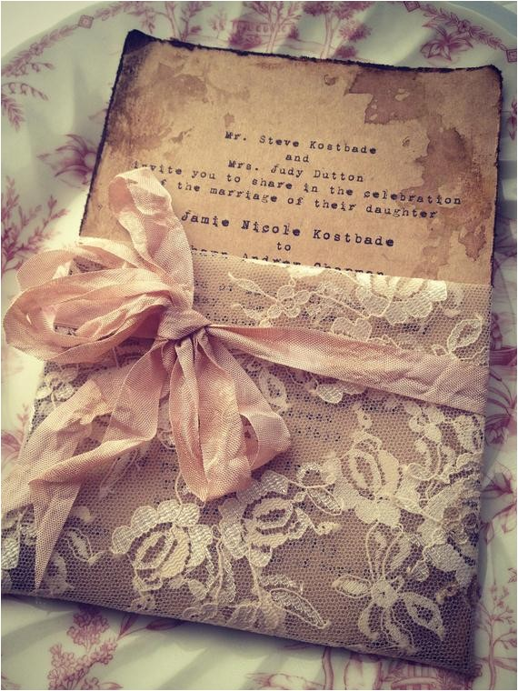 lace invitation high end handmade