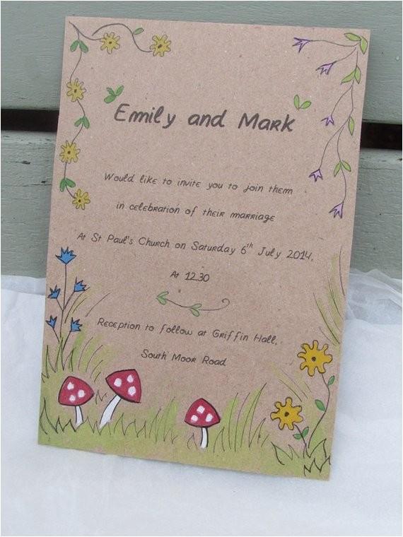 toadstool wedding invitation