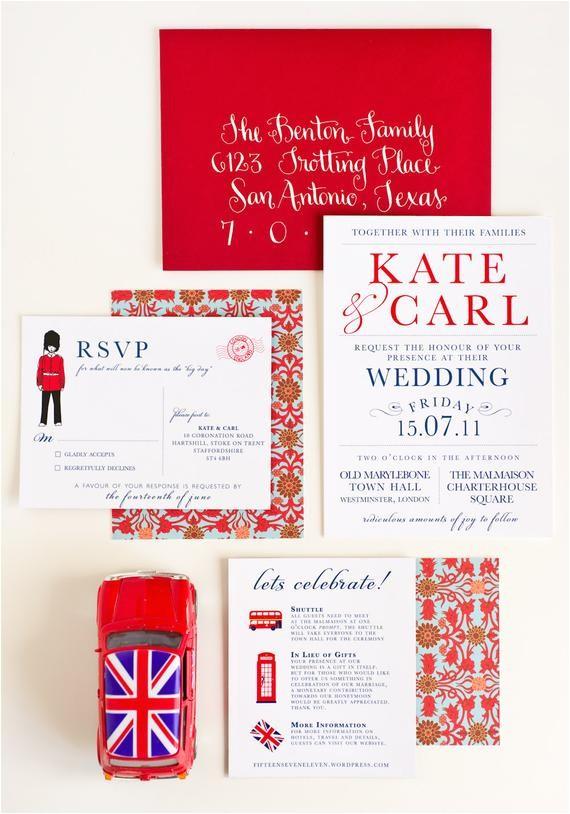 wedding invitation london calling uk