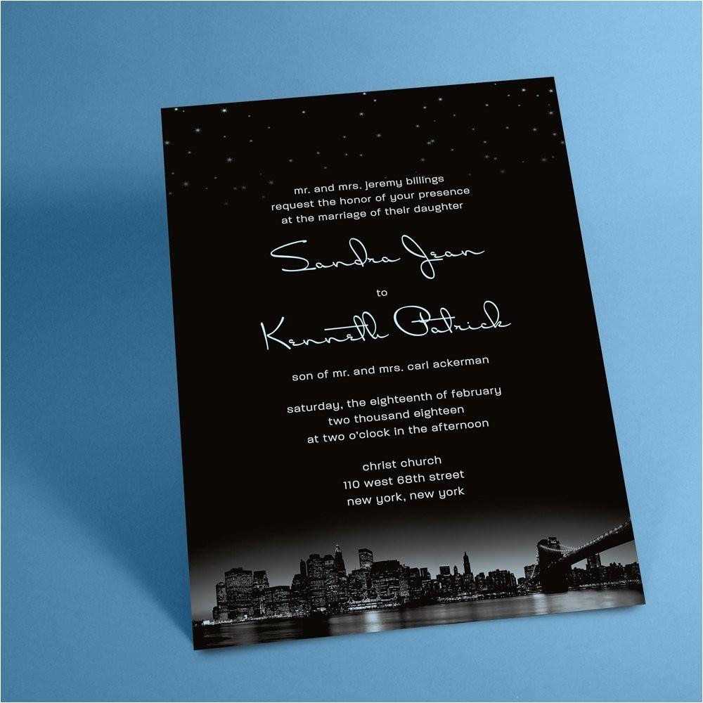 new york city skyline wedding