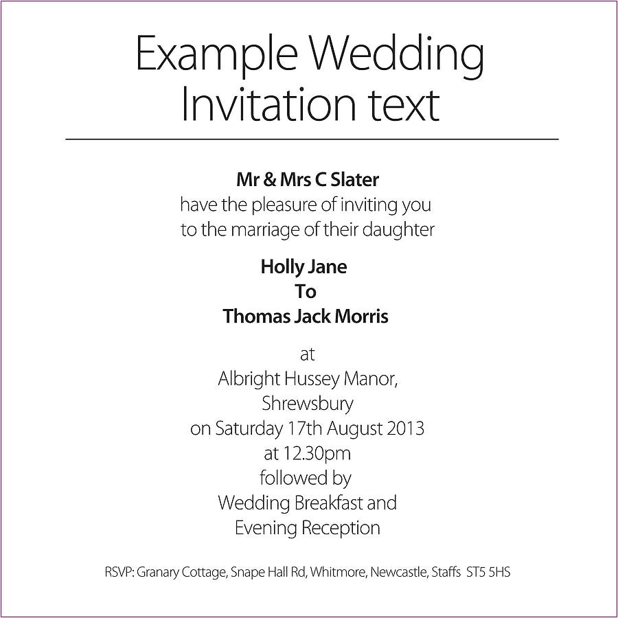 wedding invitations templates text