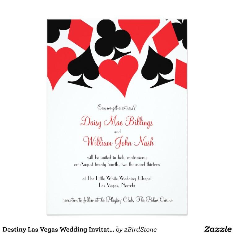 destiny las vegas wedding invitation 161024664887178395