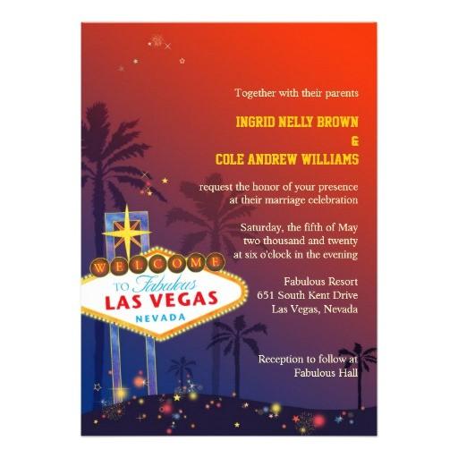 Wedding Invitations Las Vegas Nv Las Vegas Nevada Destination Wedding Invitations 5 Quot X 7