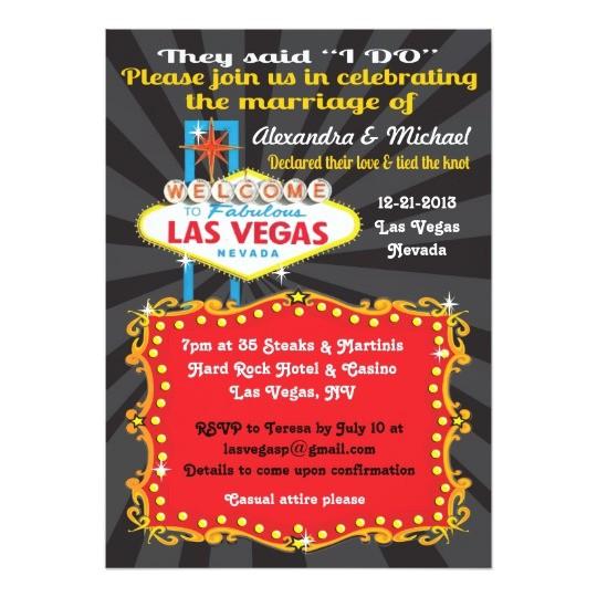 las vegas post wedding reception invitations 161366996743988014