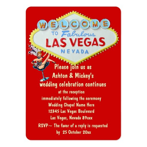 las vegas wedding reception invitation business card 240126381569190168
