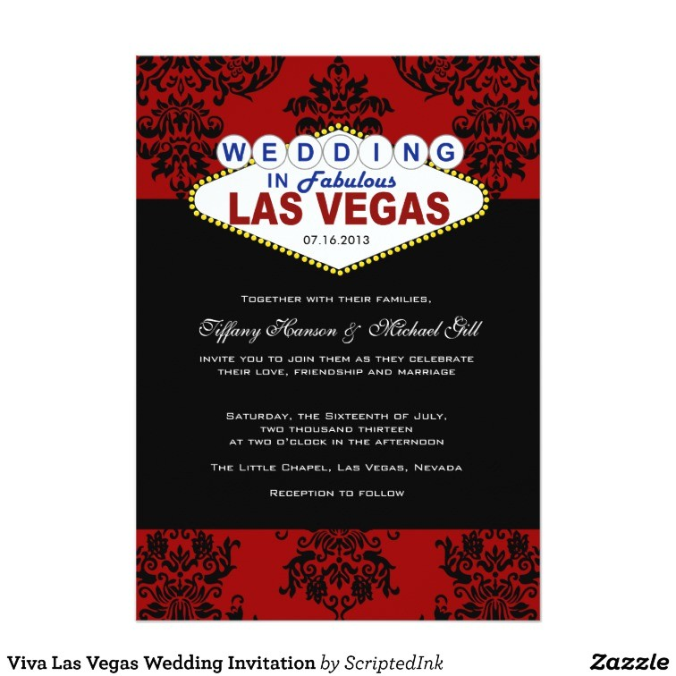 viva las vegas wedding invitation 161966124197078810