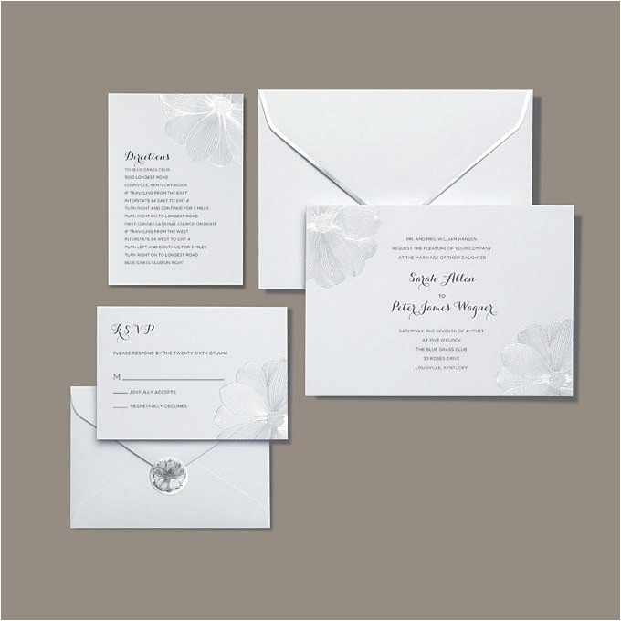 brides wedding collection michaels 2013 silver flower invitation