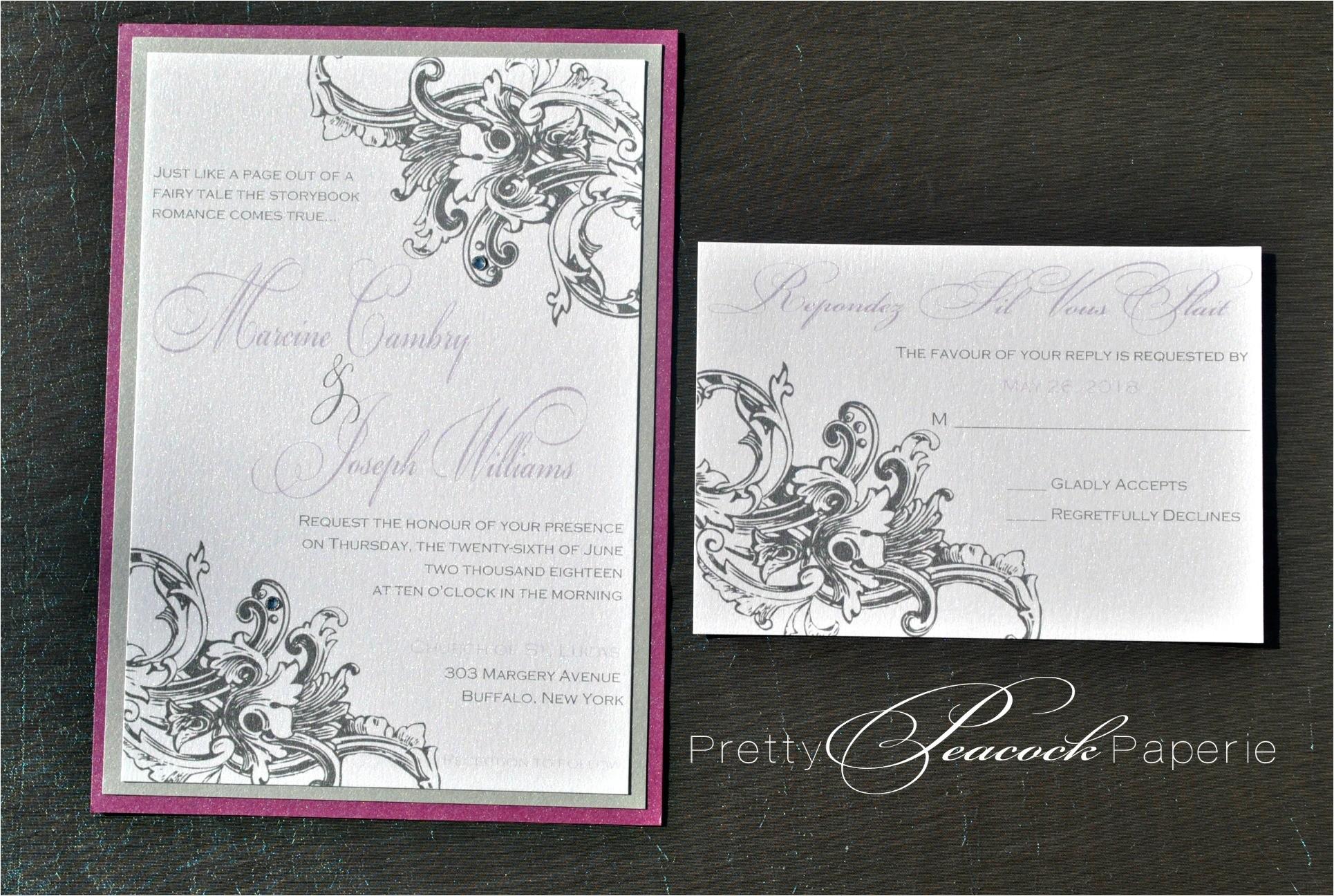 french baroque invitation suite by pretty peacock paperie orlando wedding invitations