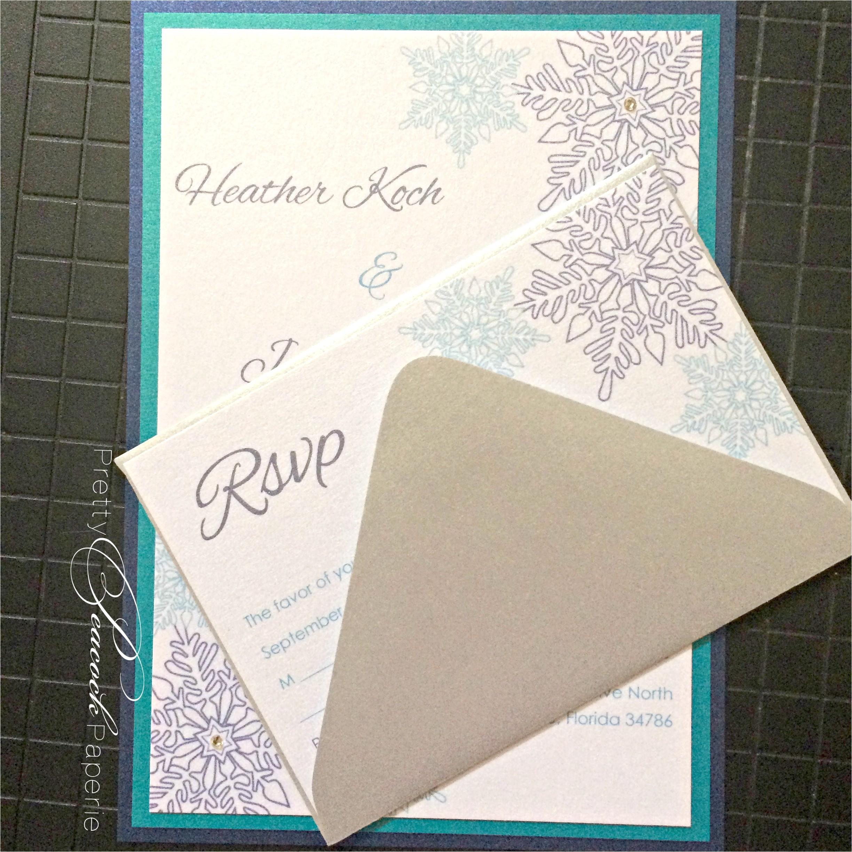 jewel tones winter wonderland wedding invitations by pretty peacock paperie orlando wedding invitations
